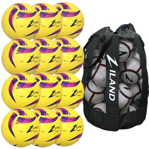 Ziland Pro Trainer Netball 12 Pack Yellow