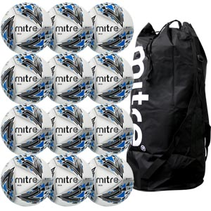 Mitre Delta Pro Match Football White 12 Pack