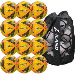 Mitre Ultimatch Plus Match Football Yellow 12 Pack
