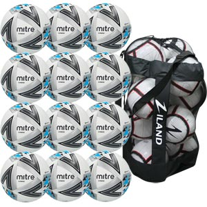 Mitre Ultimatch Match Football White 12 Pack