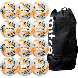 Mitre Impel Plus Training Football White 12 Pack