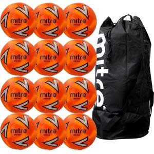 Mitre Impel Plus Training Football Orange 12 Pack