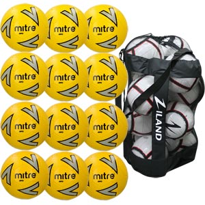 Mitre Impel Training Football Yellow 12 Pack