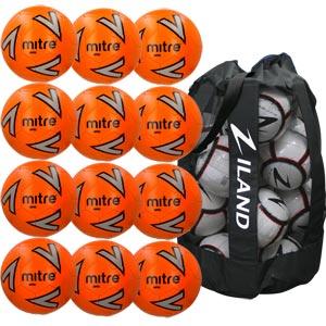 Mitre Impel Training Football Orange 12 Pack