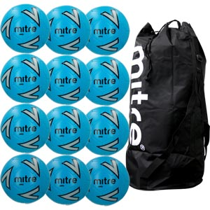 Mitre Impel Training Football Blue 12 Pack