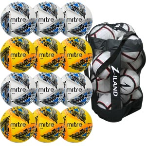 Mitre Delta Pro Match Football 12 Pack Assorted