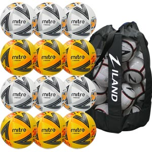 Mitre Ultimatch Max Match Football 12 Pack Assorted