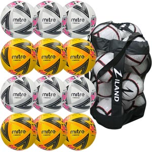 Mitre Ultimatch Plus Match Football 12 Pack Assorted