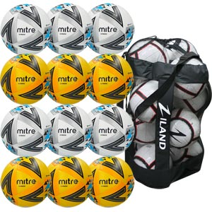 Mitre Ultimatch Match Football 12 Pack Assorted