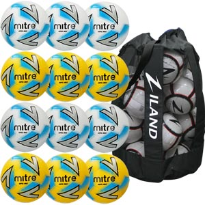 Mitre Impel Max Training Football Assorted 12 Pack