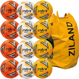 Mitre Impel Plus Training Football Assorted 12 Pack