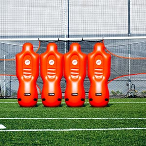 Pure2Improve Inflatable Football Defender 4 Pack