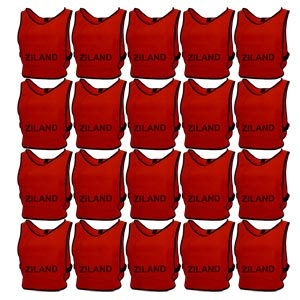 Ziland Pro Training Bib Red 20 Pack