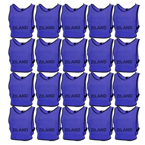 Ziland Pro Training Bib Blue 20 Pack