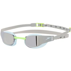 Speedo Fastskin Elite Mirror Swimming Goggles Oxid Grey/Sky/Chrome