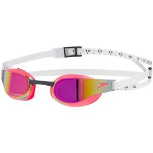 Speedo Fastskin Elite Mirror Swimming Goggle White/Psycho Red/Red