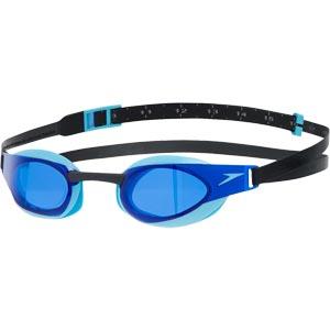 Speedo Fastskin Elite Swimming Goggles Black/Aqua Splash/Blue