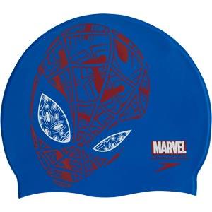 Speedo Junior Marvel Spiderman Slogan Swimming Cap