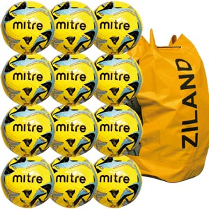 Mitre Indoor V7 Football 12 Pack