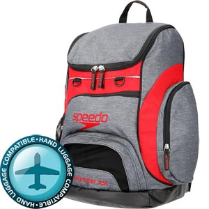 Speedo Teamster Backpack 35 Litre Grey Heather/Red