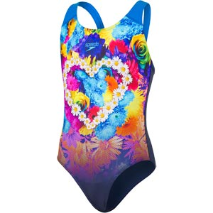 Speedo Girls Placement Digital Splashback Swimsuit