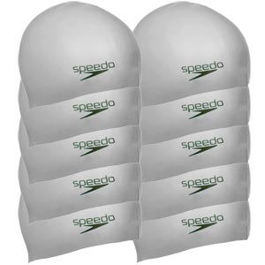 Speedo Senior Silicone Swimming Cap Pack 10 Silver