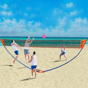 Beach Volleyball Posts and Net Set