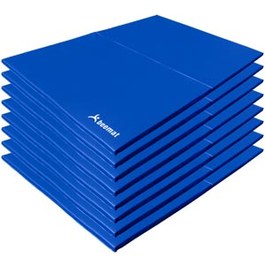 Beemat School Gymnastic Mats Lightweight 8 Pack