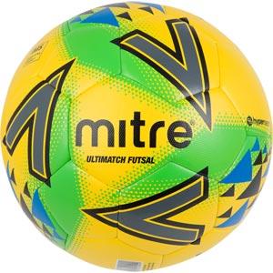 Mitre Ultimatch Futsal Football Yellow/Green/Blue