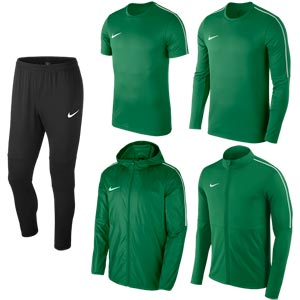Nike Park 18 Bulk Pack Pine Green/Black