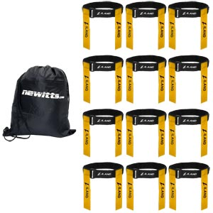 Ziland Adjustable Tag Rugby Belt 12 Pack Yellow