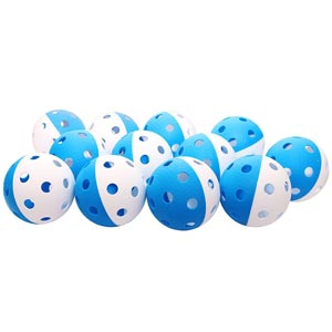 Eurohoc Floorball Precision Ball Blue/White 12 Pack