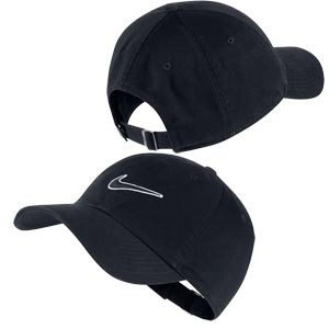 Nike Essential Embroidered Swoosh Cap Black