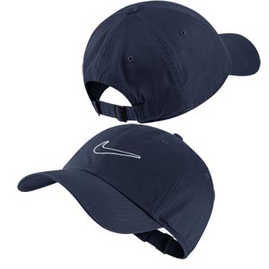 Nike Essential Embroidered Swoosh Cap Obsidian