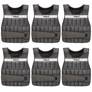 Apollo Adjustable Weighted Vest 6 Pack