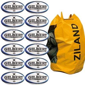 Gilbert Omega Match Rugby Ball 12 Pack