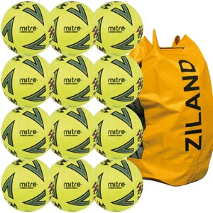 Mitre Ultimatch Indoor Football 12 Pack