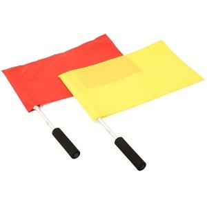 Harrod Sport Linesmans Plain Flag and Stick Set