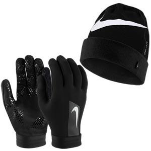 Nike Hyperwarm Football Gloves and Hat Set