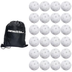 Unihoc Floorball Perforated Ball White 24 Pack