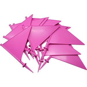 First Play Plastic Marking Flags Pink 10 Pack 21cm