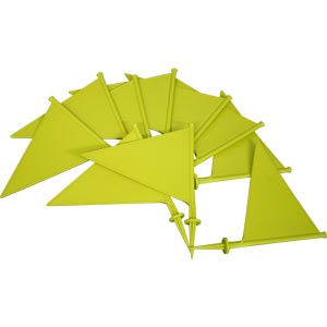 First Play Plastic Marking Flags Yellow 10 Pack 21cm