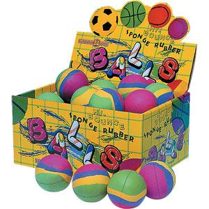 PLAYM8 Sponge Rubber Balls 24 Pack 6cm