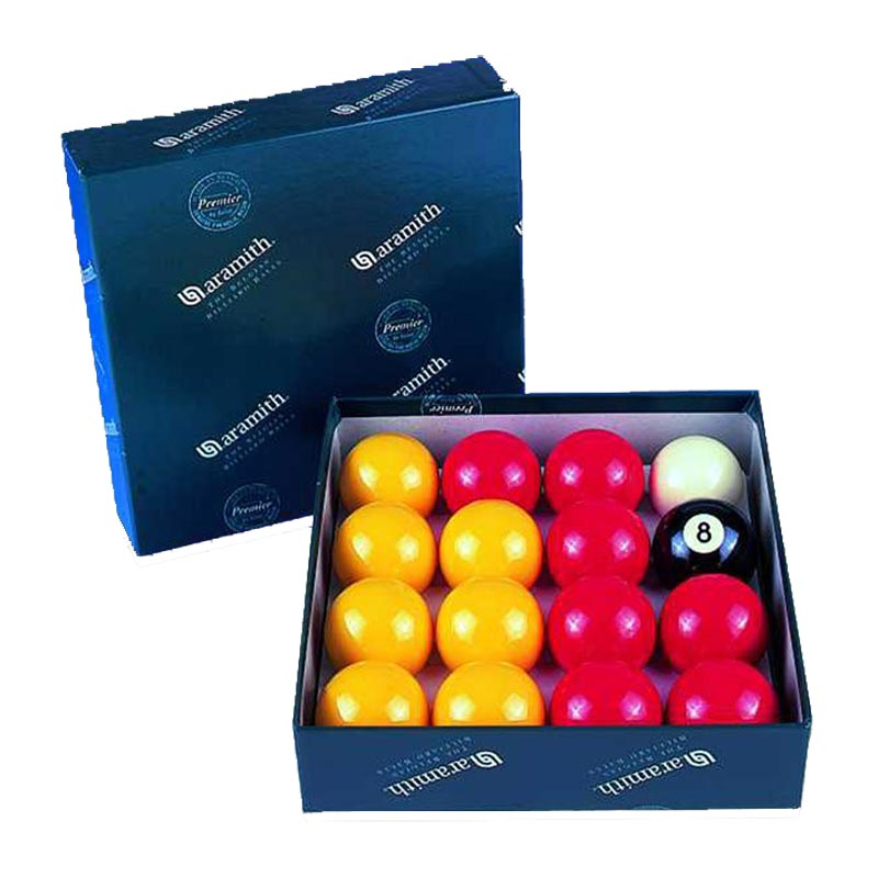 Aramith Pool Balls Red/Yellow