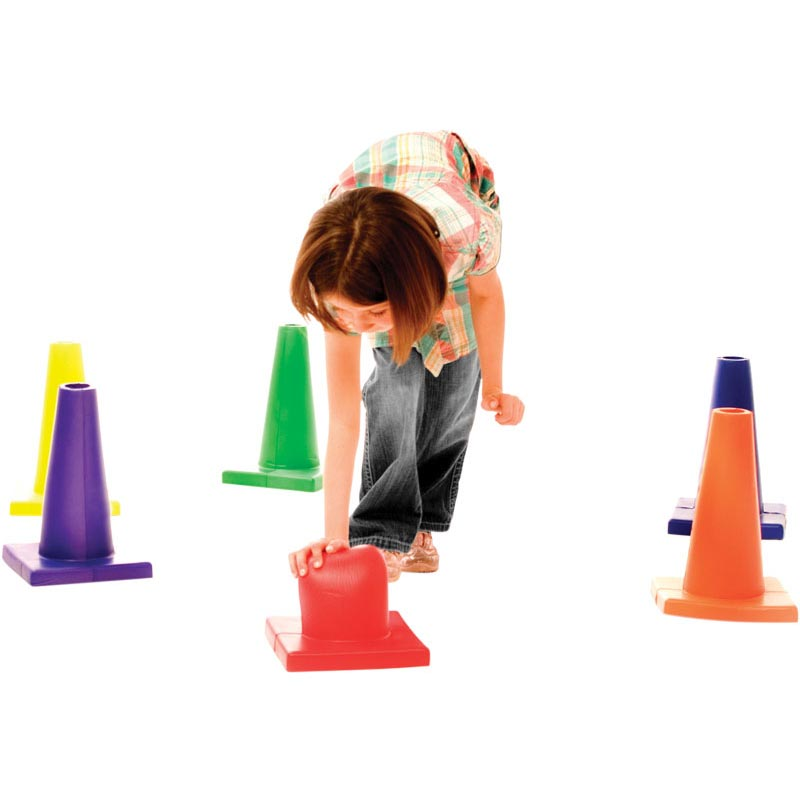 PLAYM8 Foam Safety Cones 6 Pack 30cm