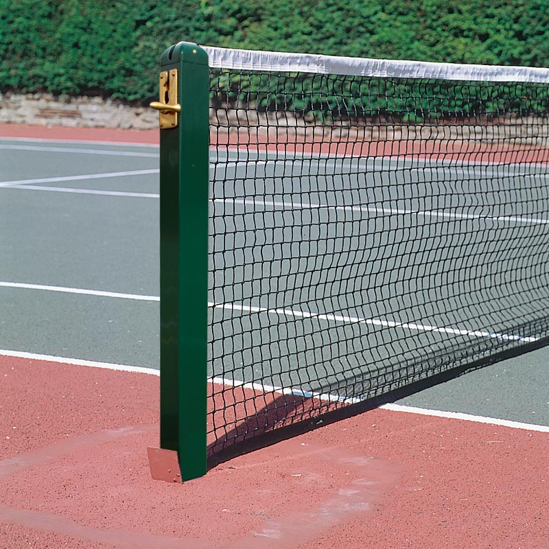Harrod Sport 80mm Socketed Square Aluminium Tennis Posts
