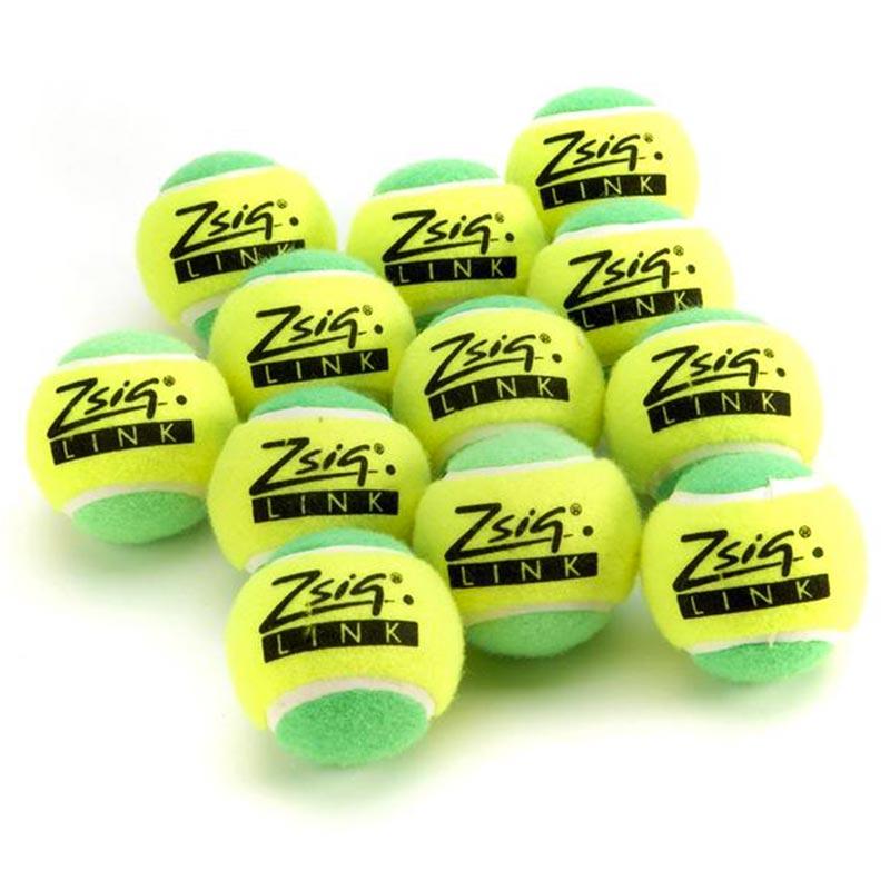 Zsig Link Mini Tennis Ball Green 12 Pack