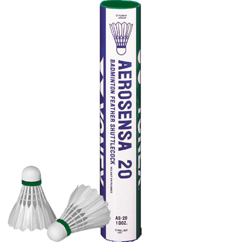Yonex Aerosensa 20 Feather Shuttlecocks 12 Pack