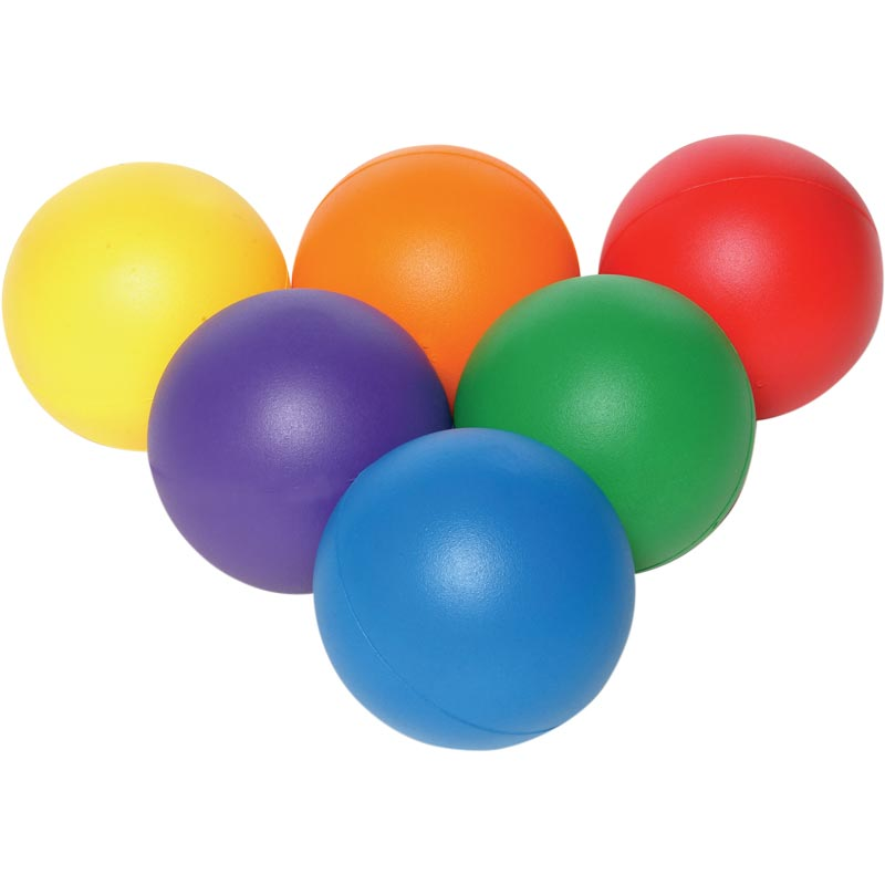 PLAYM8 Coated Foam Ball 6 Pack 20cm