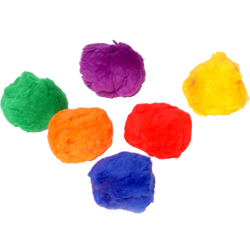 PLAYM8 Fluff Ball 6 Pack 6.5cm